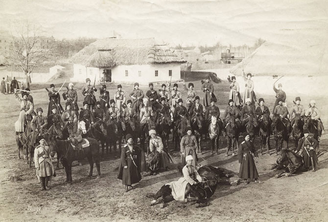 Казаки 1-го Екатеринодарского кошевого атамана Чепеги полка Кубанского казачьего войска